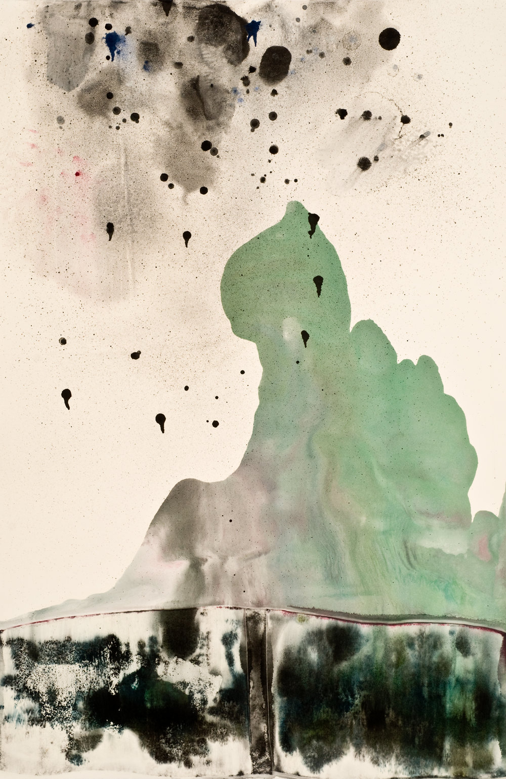 Untitled 5 ,2012  oil on paper monoprint  60 x 40 inches  Wildwood Press