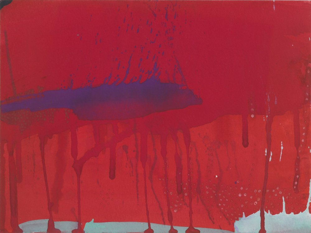 Untitled 1, 1996  Gouache on paper  9 x 12 inches