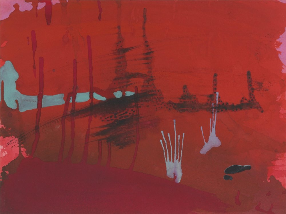 Untitled 4 1996  Gouache on paper  9 x 12 inches