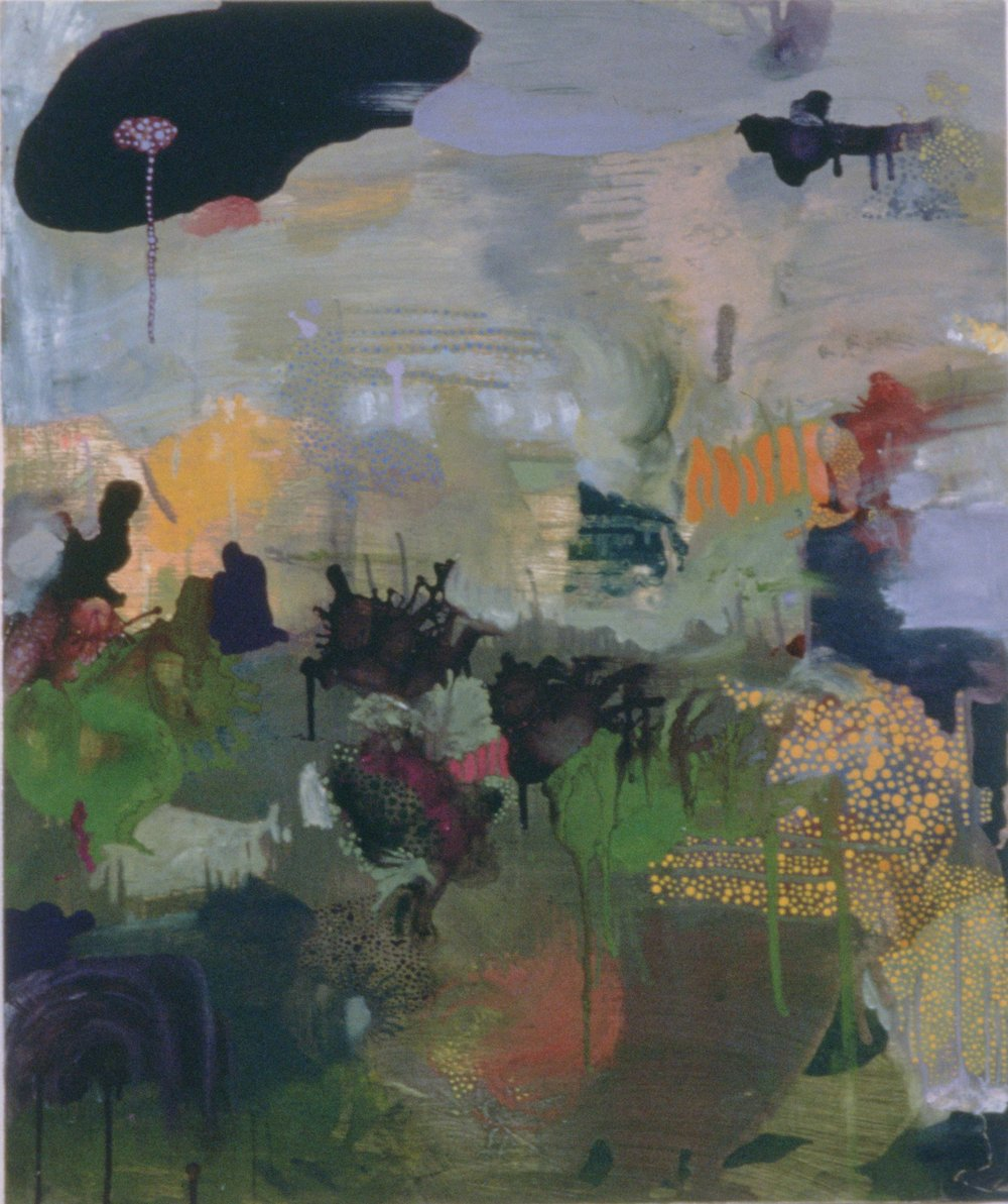 Every There Shine Through , 1993  oil on wood  26 x 20 inches
