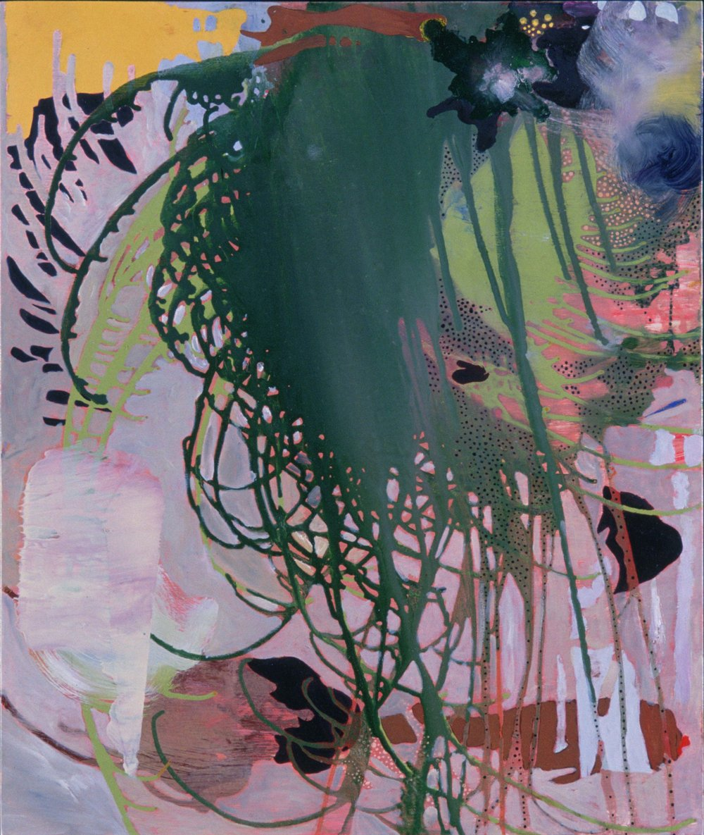 Pry Daughter , 1995  oil on wood  26 x 20 inches