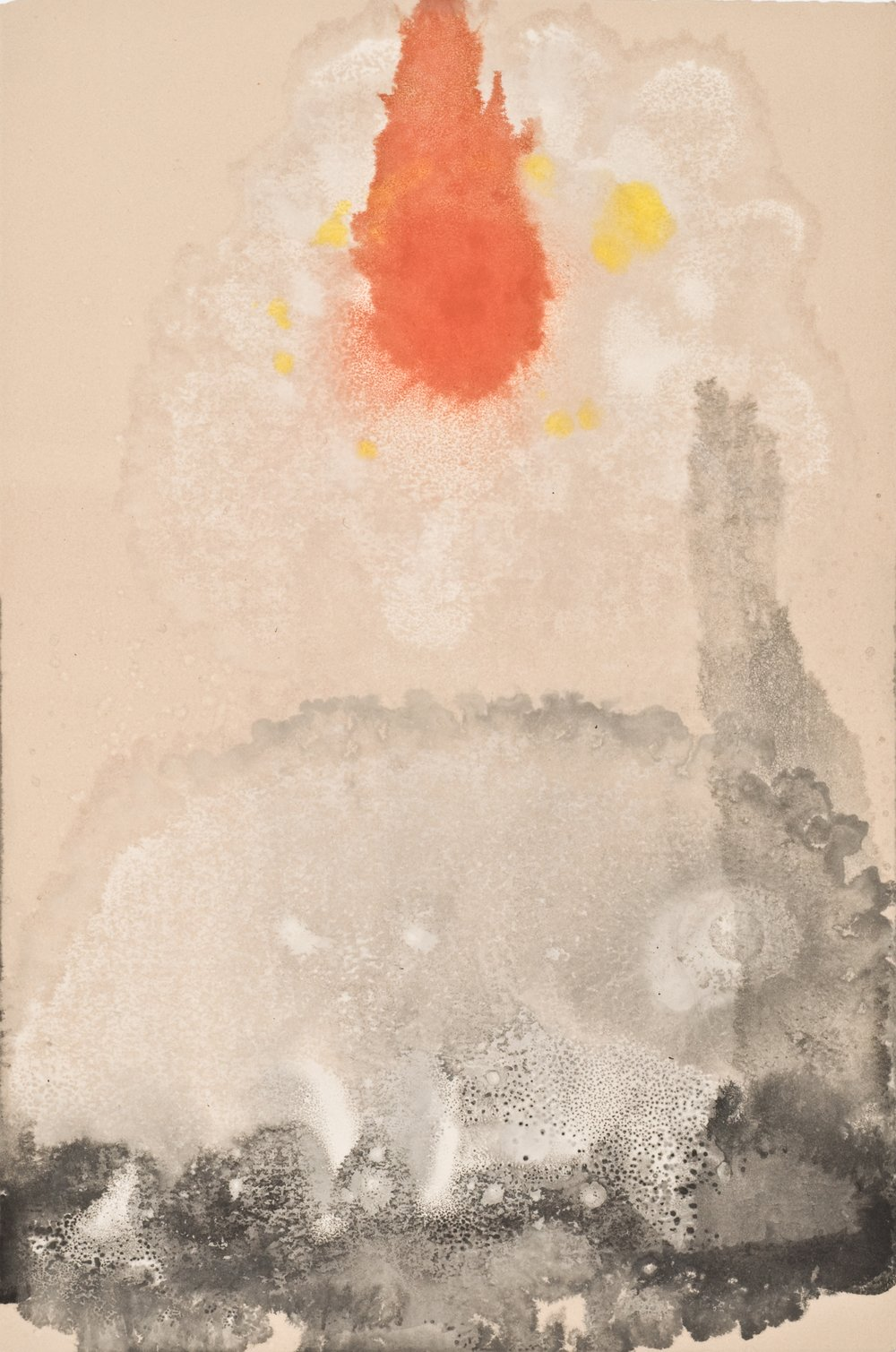 Untitled 22 , 2012  oil on paper monoprint  18 x 12 inches  Wildwood Press