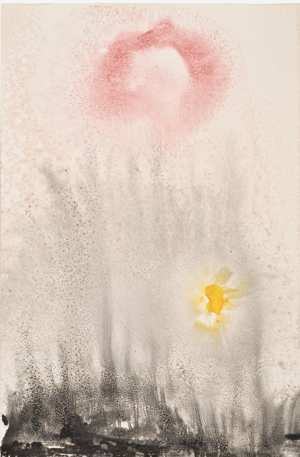 Untitled 35, 2012  oil on paper monoprint  18 x 12 inches  Wildwood Press