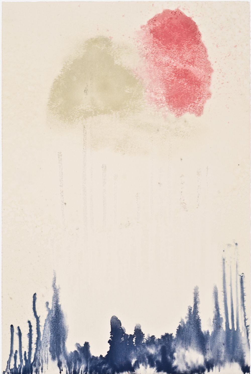 Untitled 44, 2012  oil on paper monoprint  18 x 12 inches  Wildwood Press