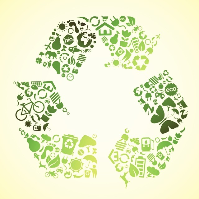 "What are you doing to ""Go Green?"" #Reduce #Reuse #Recycle"