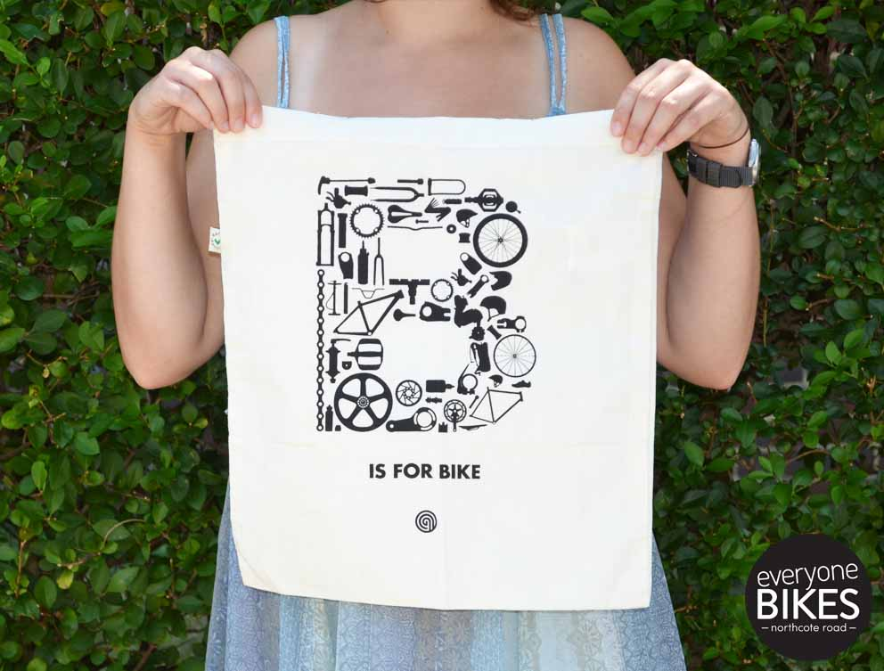 Anthony Oram B is for bike - Organic Cotton Tote Shopper