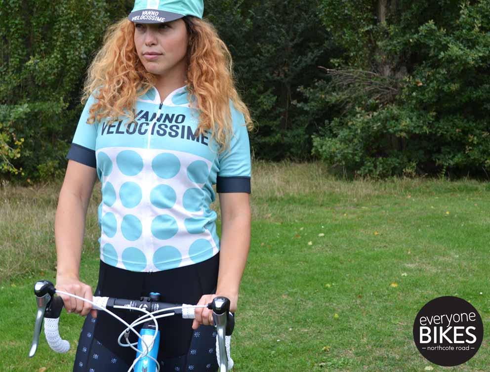 Morvelo VELOCISSIME WOMENS Jersey, Cycle Cap & MVCC Bib-shorts