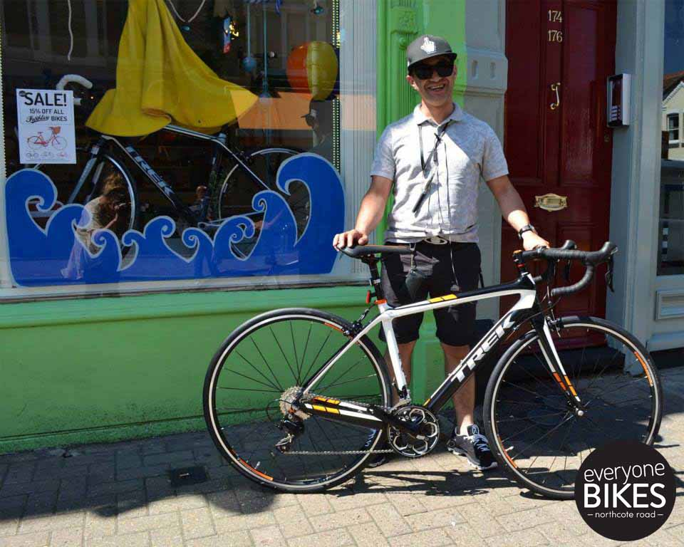 Our new buddy Jay picked up his new Trek Bicycle Domane 4.3 today!