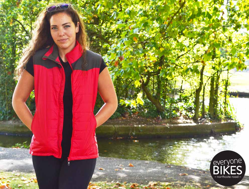 VULPINE WOMEN'S ULTRALIGHT QUILTED THERMAL GILET - RACING RED