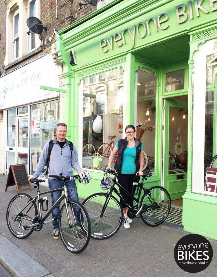 THE FIRST BIKES SOLD ON OPENING DAY! A VERY HAPPY COUPLE THEIR NEW TREK 7.2 FX & TREK 7.1 FX BIKES.