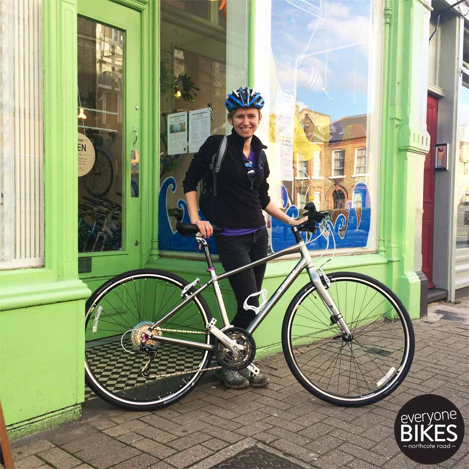 Another Women's Trek Bike out the door! Aleks got herself a shiny new Trek 7.4 FX WSD. #HAPPYSUNDAY #WOMENSCYCLING