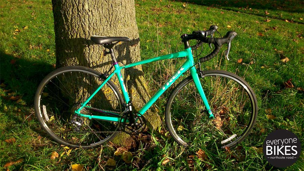 Trek Lexa 52cm £600 Great Green and Purple decals! 2 x 8 Shimano Claris Gear