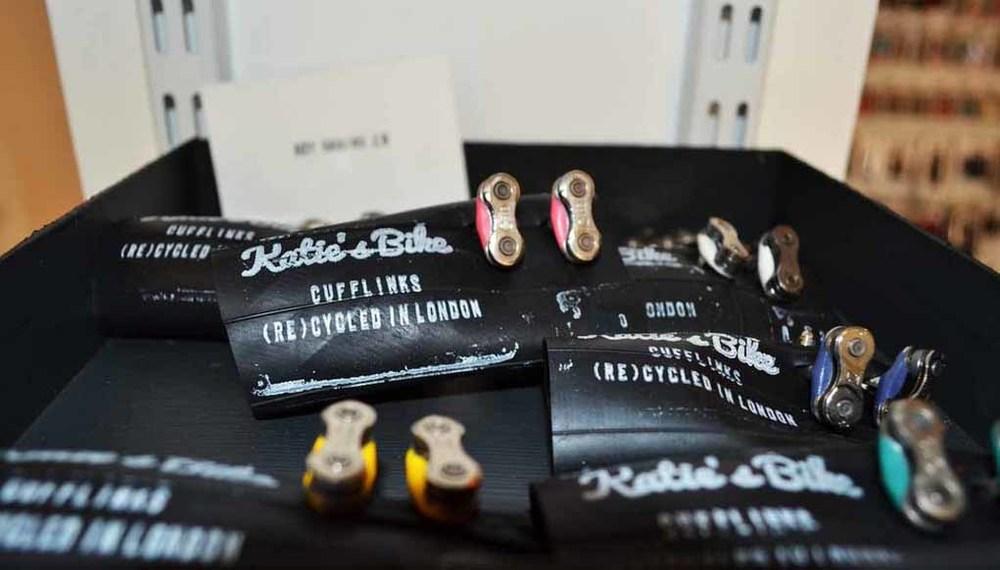 Katie's Bike Keychains & Cufflinks