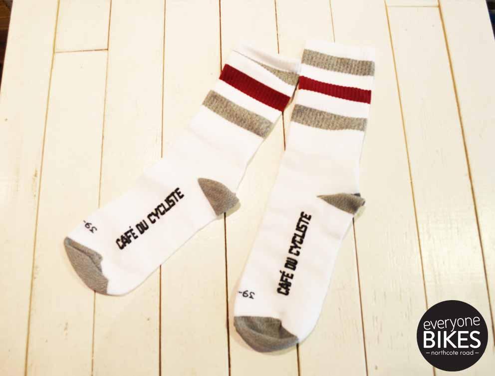 Café du Cycliste Striped Socks High Cuff
