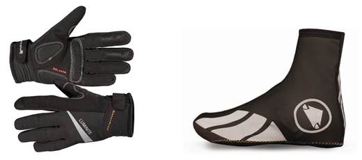 Endura Luminite Gloves (£32.99) & Endura Luminite II Overshoes (£25.99)