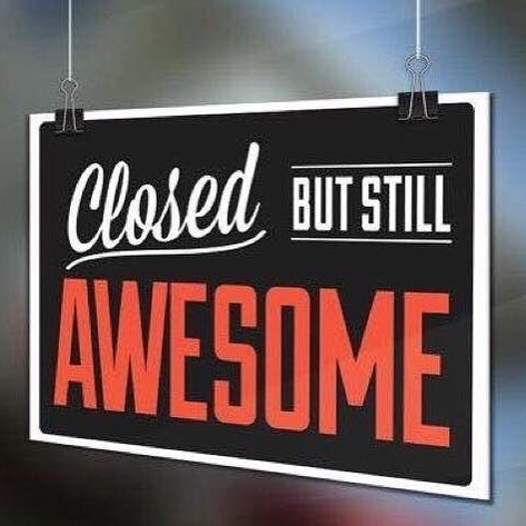 ‪Hello friends! We will closed today, Monday 23rd of October. Back open bright and early Tuesday at 9am!‬