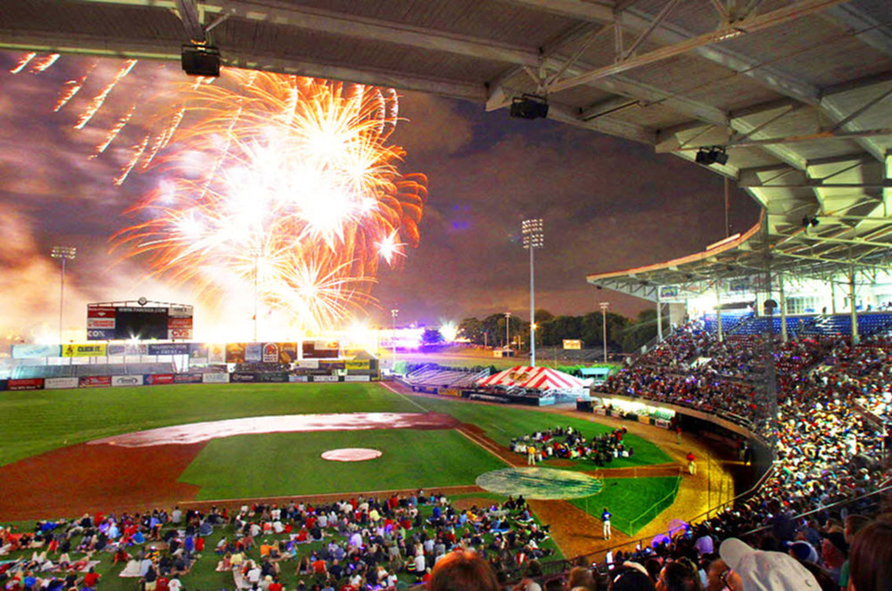 McCoy Stadium Night Time Fireworks