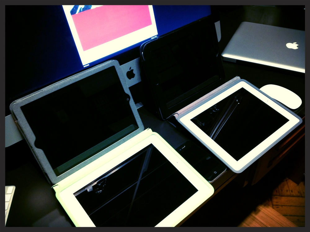 iMac with iPads