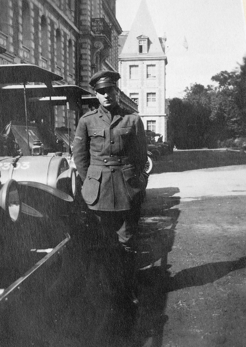 Luther Nelson at the American Ambulance Hospital, 1916