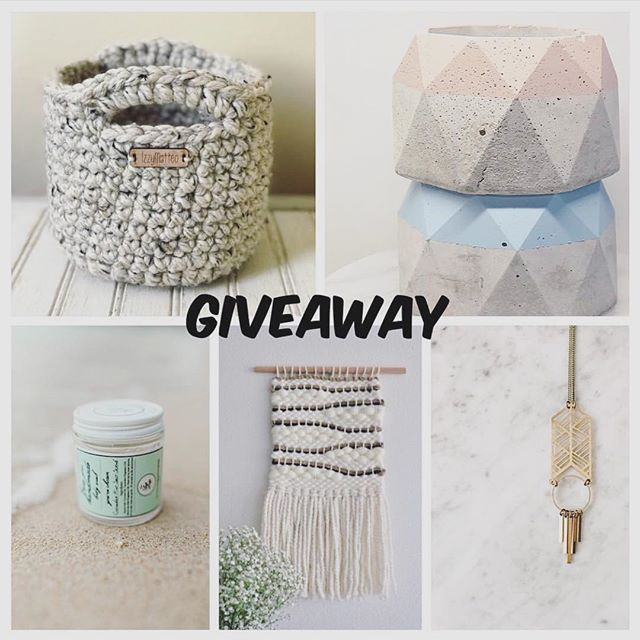 Last day to enter our giveaway! See details below!! ✨ ✨ ✨ Rules are as follows: -Like this post and Follow all 5 accounts @izzy.matteo (Small basket) @sweetieweave (Woven wall hanging) @withseamint (Cement planter) @civalcollective (Nina necklace) @the.soap.lodge (Body scrub) -Tag at least 3 friends on @sweetieweave page (she will keep track of all entries) -Additional tags will count towards more entries -Make your own Post in IG your feed or stories and tag @sweetieweave for an additional entry Contest starts now and closes on May 27th (at 11:59pm CST)  Winner will randomly be chosen and announced on May 29th ****This giveaway is not sponsored or endorsed by Instagram and is open to U.S residents only! Good luck . . . . #giveaway #instagood #jewelry #necklace #handmade #hustle #makeresofmke #mkemade #mke #madeintheusa #dreammachine #loveyourself #jewelrydesigner #jewelryaddict #cival #civalcollective #jewellery #makersgonnamake