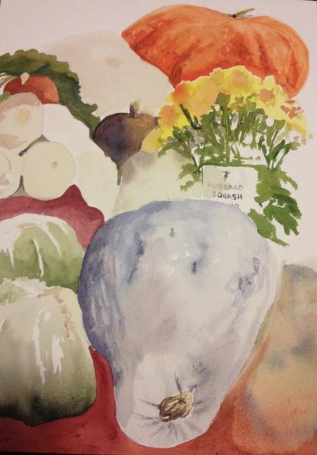"Amy's Veggies, 14"" x 11"", Watercolor (SOLD)"