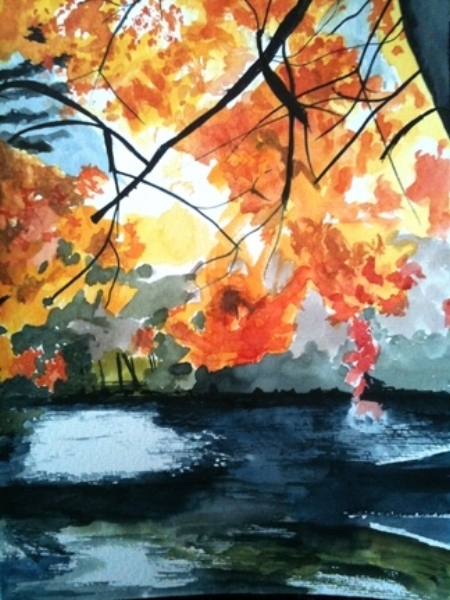 """Avalon Light, Stony Brook, 11"""" x 8.5"""", Watercolor (On Loan currently at Gallery North)"""