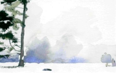 "Cedar, 8.5"" x 11"", Watercolor (Not For Sale)"