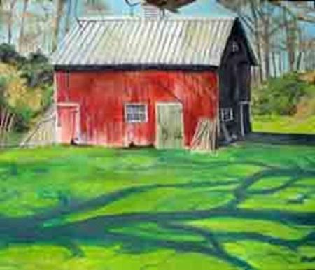 "Barn, 24"" x 36"", Oil (SOLD)"