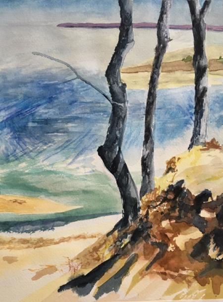 "KPB Hike, 12"" x 9"", Watercolor"
