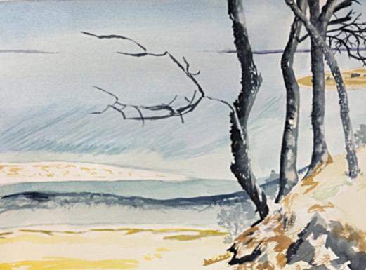 "Kings Park Reach, 12"" x 19"", Watercolor"