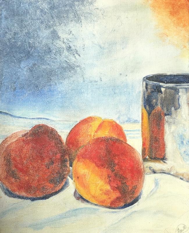 """Peachy One, 8"""" x 10"""", Oil"""