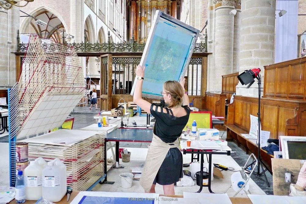 Presentation Maria Iljic print, Grote Kerk, Alkmaar, The Netherlands, 2015