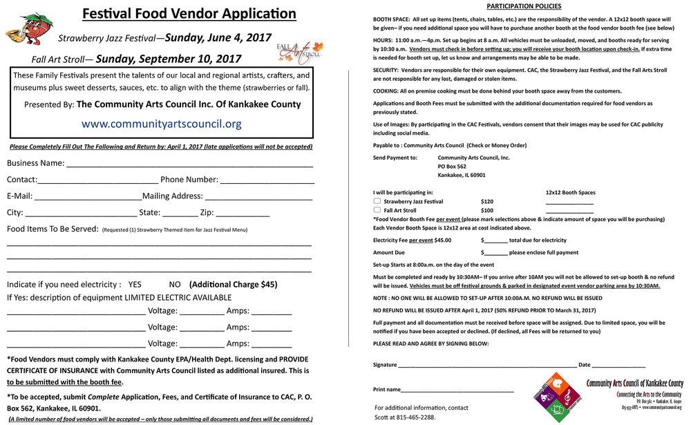 DOWNLOAD FESTIVAL FOOD VENDOR APPLICATION