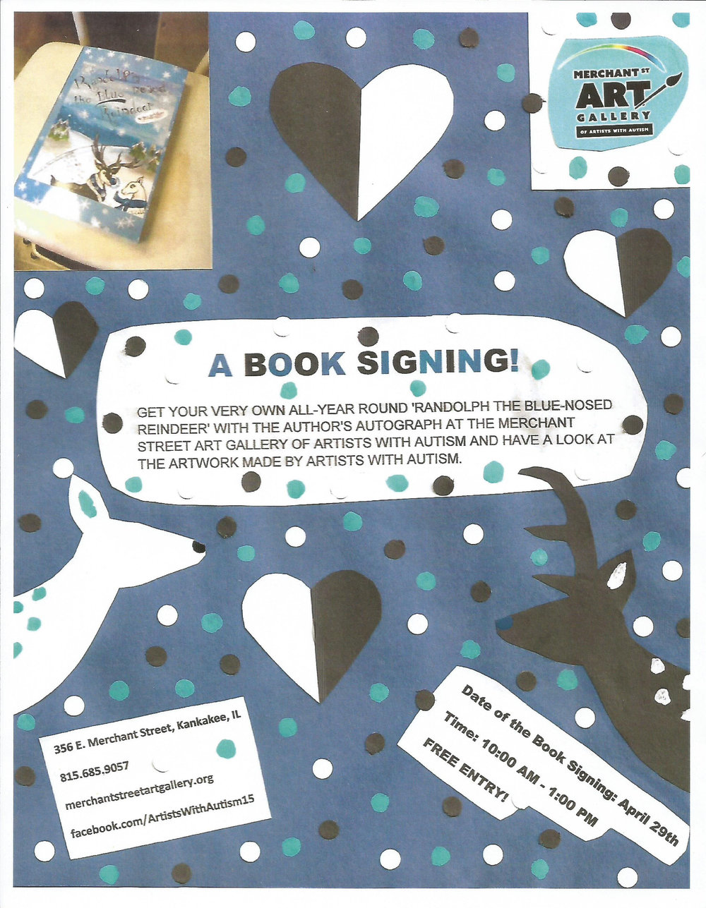 A Book Signing! April 29 @ 10:00-1:00 Free Entry