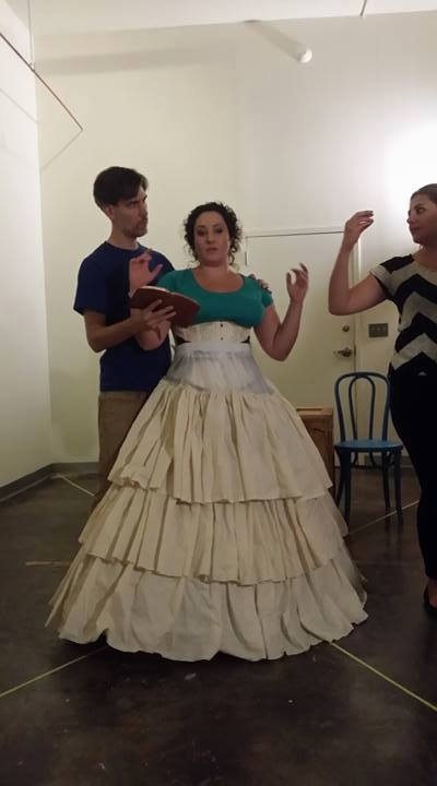 The cast begins rehearsing in some costume pieces early, ensuring they will move and behave authentically.