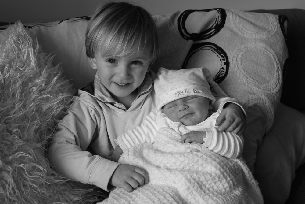Proud Big Brother Skye with Baby Jesse