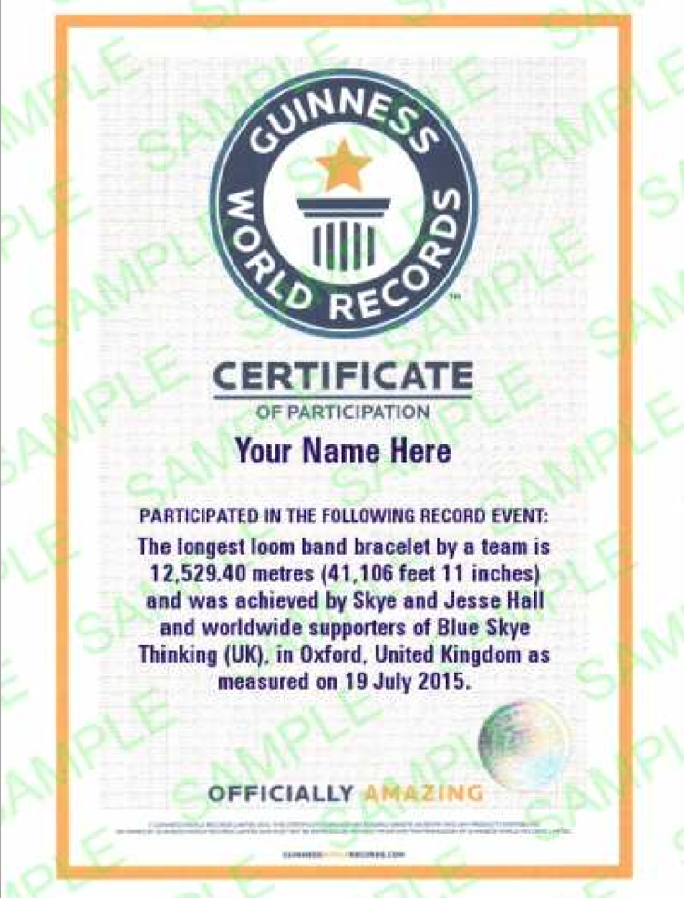 guinness participation certificate blue skye thinking