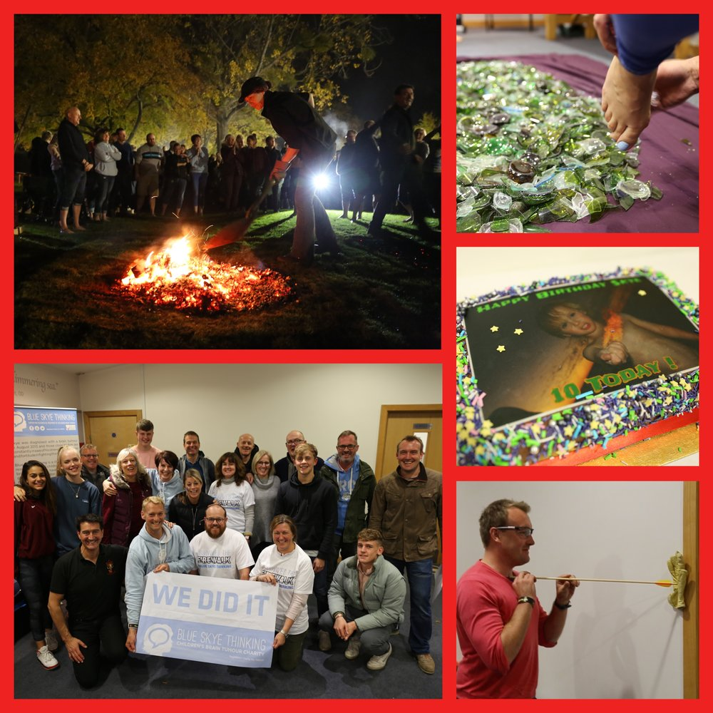 Supporters of Dean Close School participated in a Firewalk event on 4th November to celebrate Skye's 10th Birthday. Grand total raised to be announced soon…  To watch a video of these brave folk  CLICK HERE .