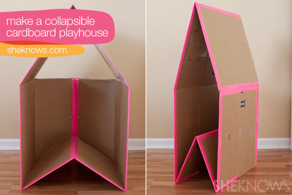 cardboard playhouse diy | Get free plans to build sheds, bookcases ...