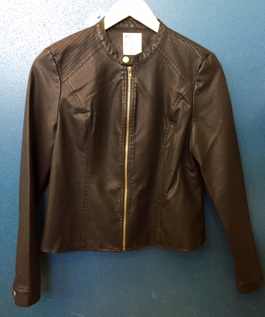 Tulle Faux Leather Jacket $79