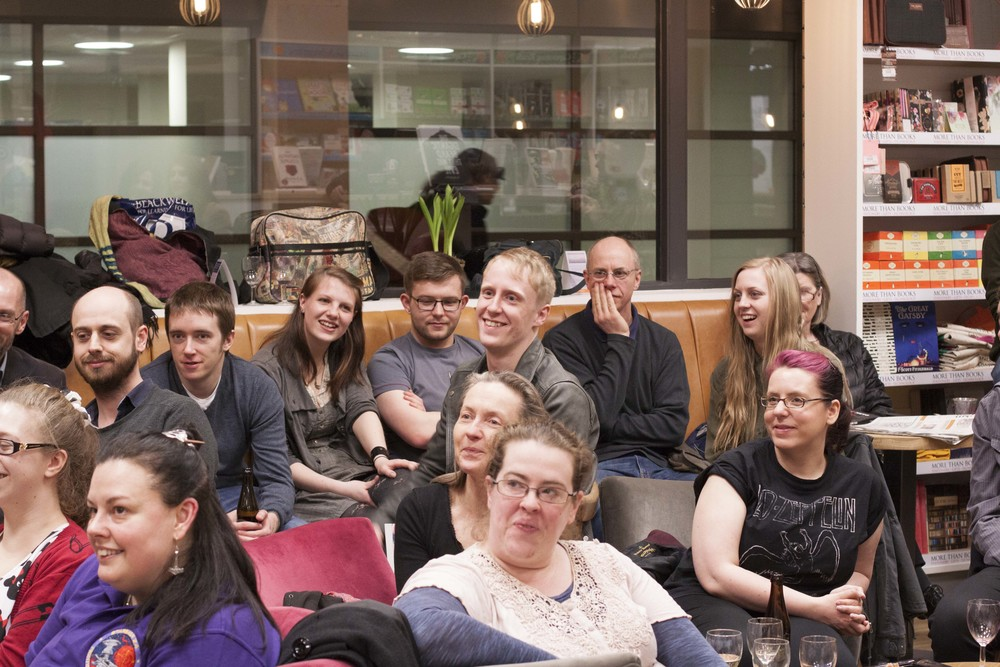 Fans at the official Dark Star launch event. Blackwells Holborn 20 March 2015.jpg