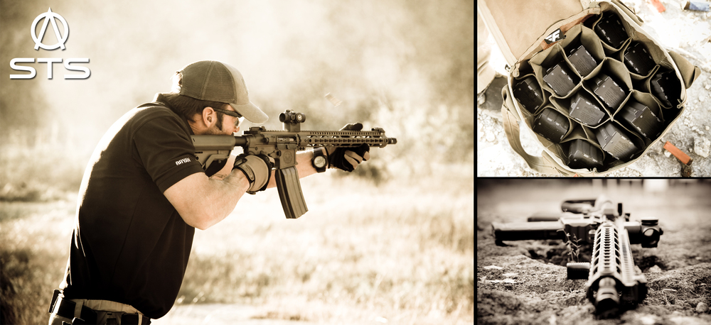 Bryan from STS turning up the heat with  SFA-15  rifle test twelve Surefire 60 round mags in a row. No issues!     Fighter Design Surefire Mag Bag 12-pack