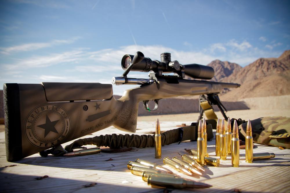 5 Toes Custom Texas Edition .308 Bolt Action Rifle.