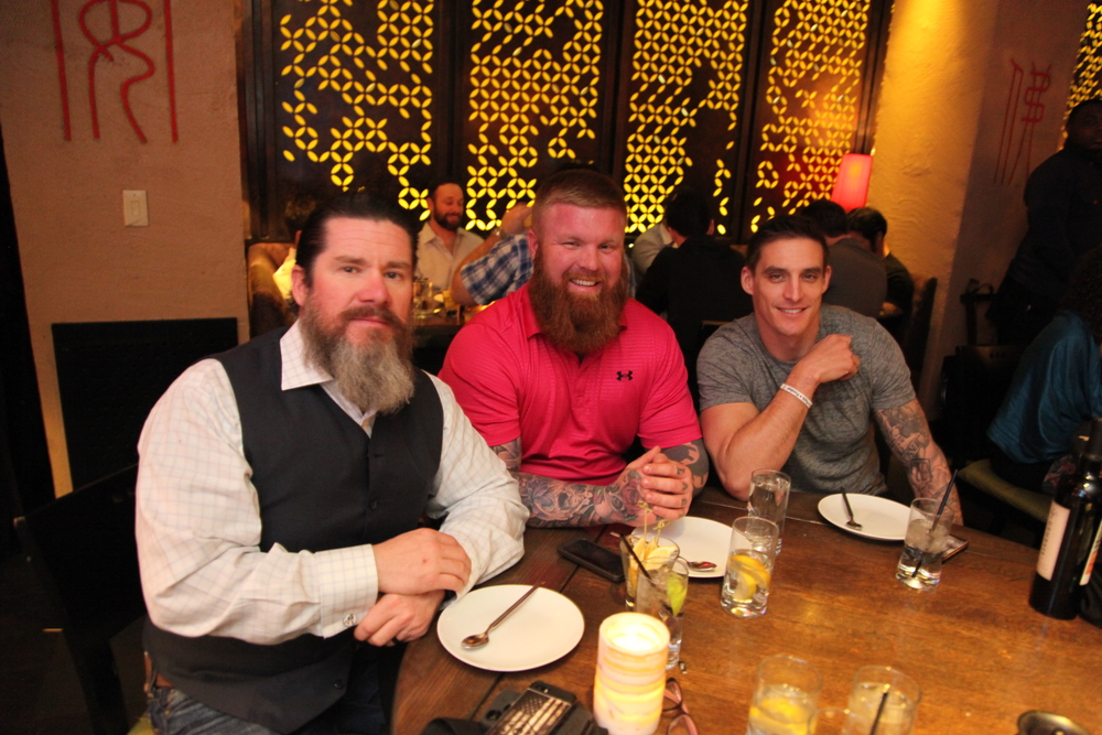 Instructor ONE ,  Nick Dillon , and  Ryan Williams  at Tao Dinner last night.