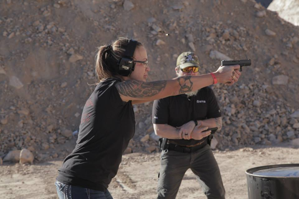 Instructor ONE putting Britts through shoot and move drills.