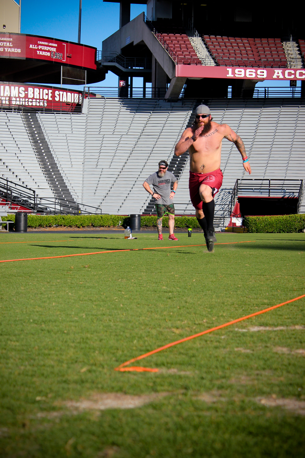 Nick Koumalatsos on 20 yard sprints