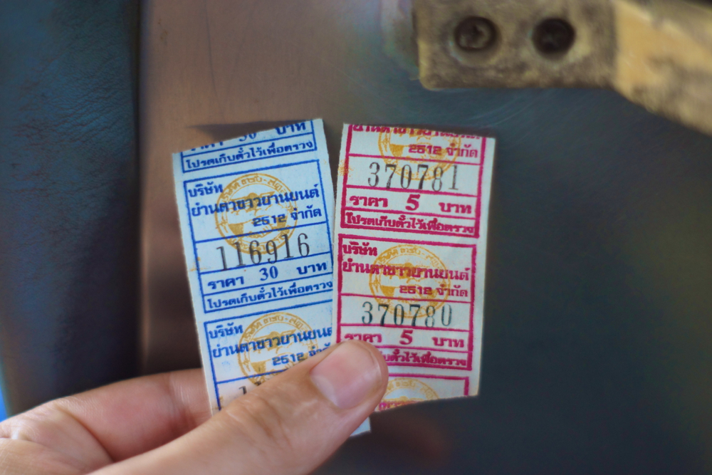 Easy to understand bus tickets.