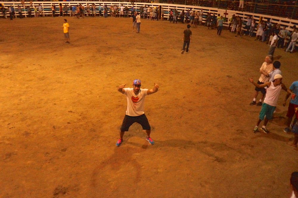 Me in the ring, far from any bulls.