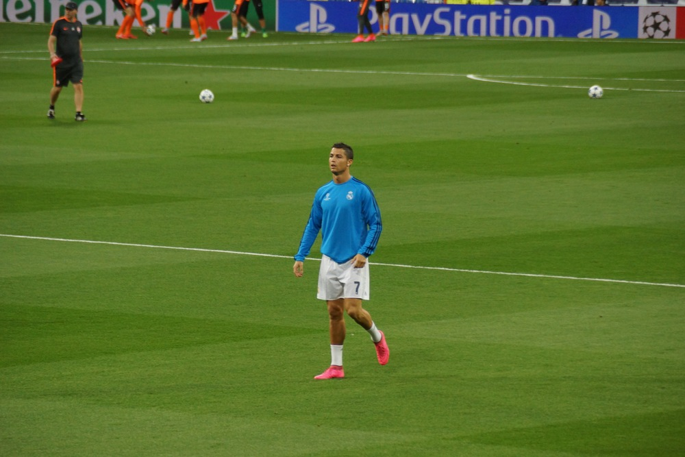 The man, the myth, the Ronaldo. In the flesh.