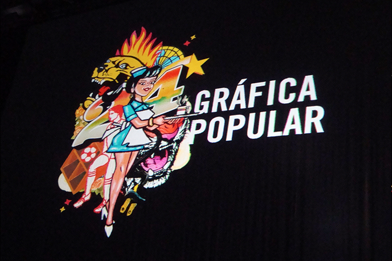 POPULARDELUJO EN TRIMARCHI  Conferencia de Populardelujo sobre la importancia de la gráfica popular,